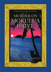 The award-winning cover of Murder on Mokulua Drive